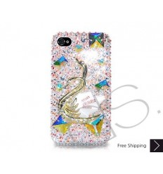 Swan 3D Swarovski Crystal Phone Case