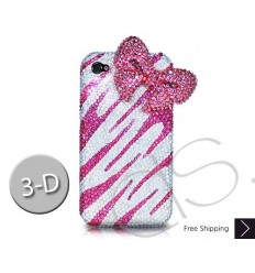 Elegant Ribbon 3D Swarovski Crystal Bling iPhone 6 Cases - Pink