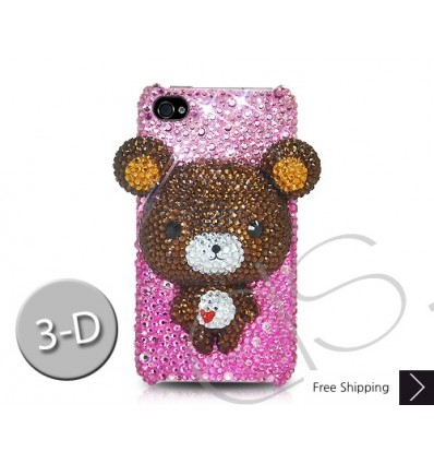 Bear 3D Crystallized Swarovski iPhone Case - Brown