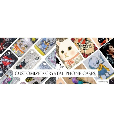 CREATE YOUR OWN Swarovski iPhone CaseS
